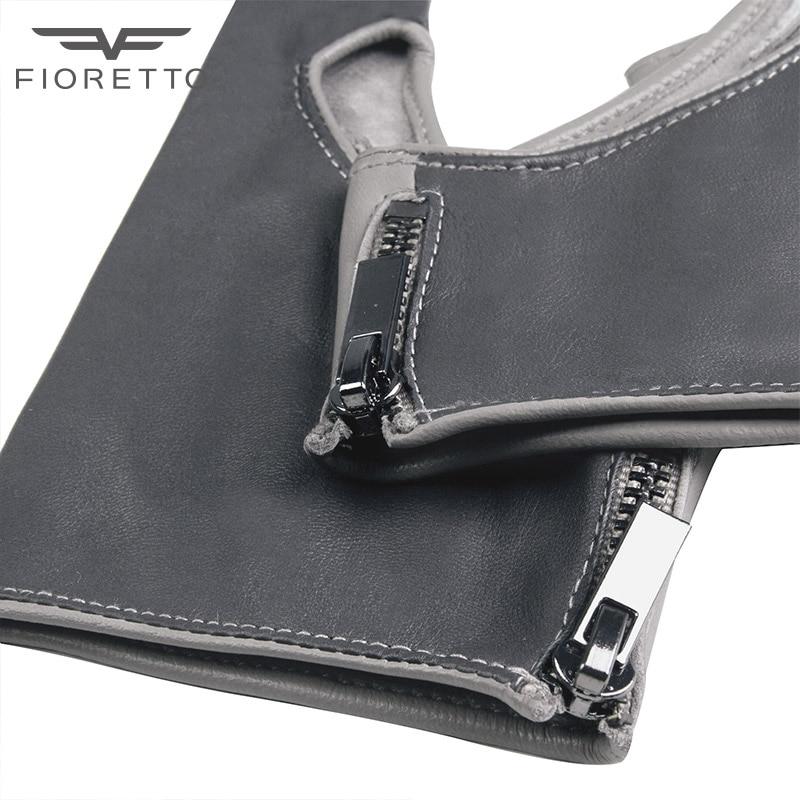 Fioretto Fashion Brand Damen Fingerlose Lederhandschuhe Half Finger - Bekleidungszubehör - Foto 5