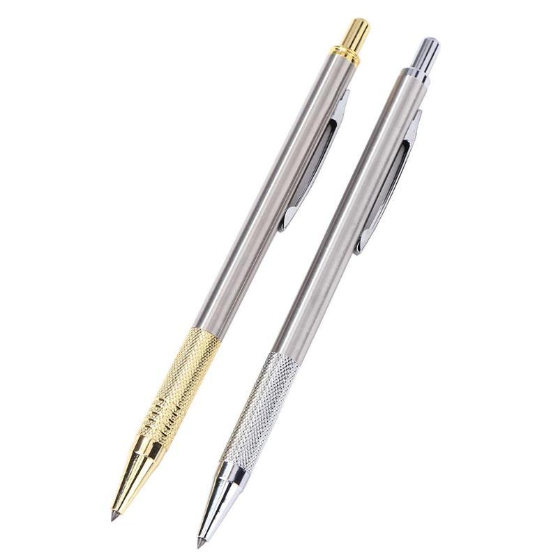 Diamond Glass Cutter Pen Carbide Scriber Hard Metal Lettering Cutting Glass Knife Scriber Tool