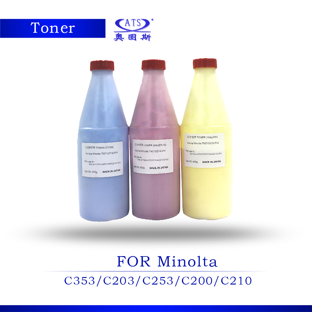 ФОТО 1PCS 400G Toner Poudre Photocopy machine Toner Powder For Konica Minolta Toner Compatible C353 203 253 200 210 Copier Part C 353