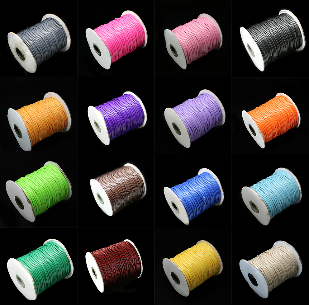 Jewelry Findings Rope Cord Craft Necklaces Thread String Diy Bracelet Waxed Cotton Spool-Wire-Fit