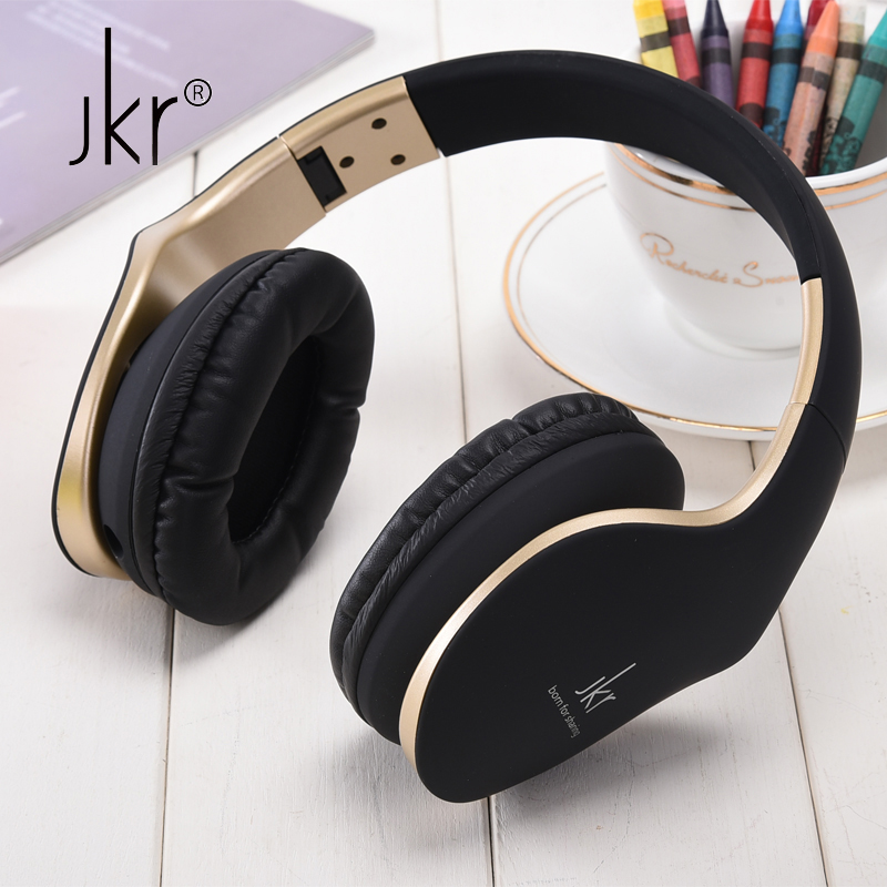 JKR Stereo Casque Audio Big Wired Gaming Earphones For Phone Computer Player Headset Headphones With Microphone Head Auricular