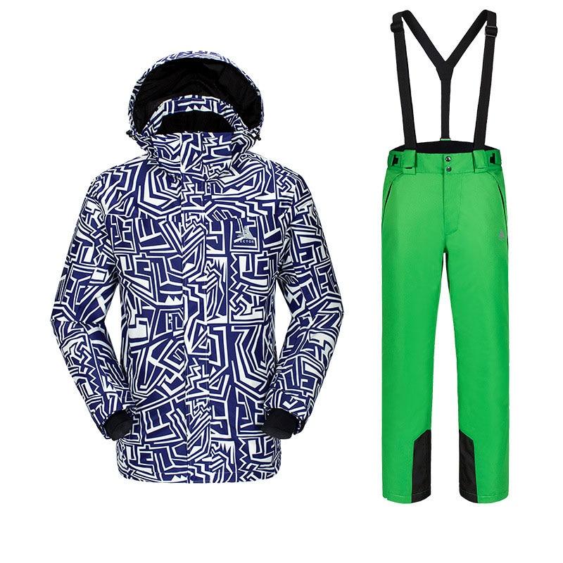 Новая мужская фанерная доска лыжный костюм, для спорта на открытом воздухе Лыжная одежда для альпинистов мужские лыжные штаны ветронепроницаемая Водонепроницаемая теплая одежда - Цвет: C3