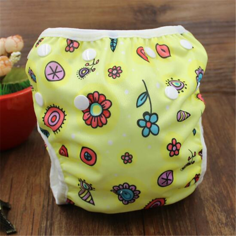 Waterproof Adjustable Baby Swim Diaper Pool Pants Unisex One Size Newborn Swim Diaper Cartoon Reusable Washable Baby Pool Cover