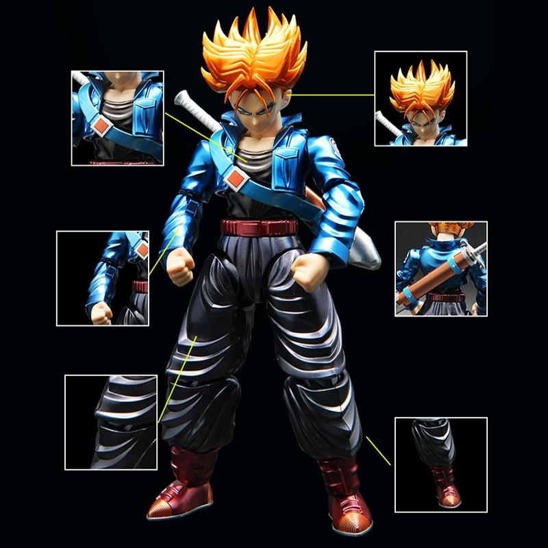 Original Dragon Ball Super Saiyan Trunks Figure-rise Migatte Metal Coloring Assembled action figure collection model toy все цены