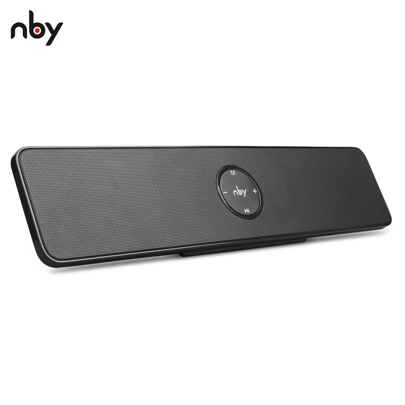NBY 5530 Portable Bluetooth Speaker Stereo Wireless Speaker with Enhanced Bass Microphone Micro SD card Music Play for iPhone