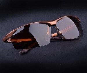 Image 4 - Sıcak Alüminyum magnezyum alaşımlı erkek polarize güneş gözlüğü sürüş ayna gözlük erkek gözlük gözlük moda sürüş güneş gözlüğü