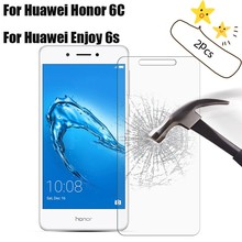 2pcs For Tempered Glass Huawei Honor 6C Screen Protector Enjoy 6s Protective Film Cover