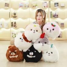 Super Cute 1Pc 7 Colors 30x40Cm Creative cartoon Pomeranian dog Plush Pillow With Blanket Insider (100x160Cm) Kids Birthday Gift