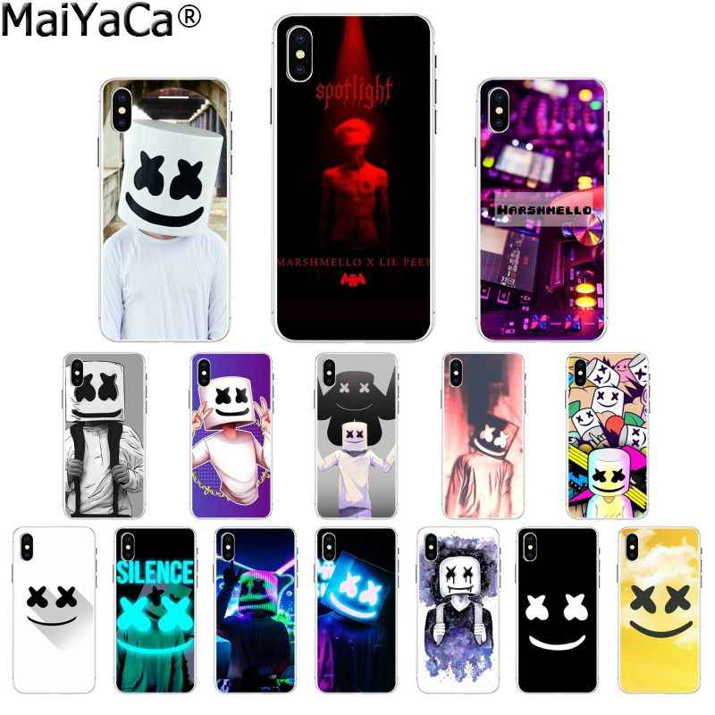 MaiYaCa Marshmello TPU Transparent Phone Case Cover Shell for Apple iPhone 8 7 6 6S Plus X XS MAX 5 5S SE XR Cellphones