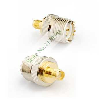 50 pcs RF coaxial coax adapter SMA female to UHF female SO-239 SO239 Connector