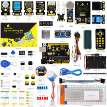New Packing! Keyestudio Super Starter kit/Learning Kit(UNO R3) for arduino Starter kit with 32 Projects +User Manual+ RFID 1602(China)