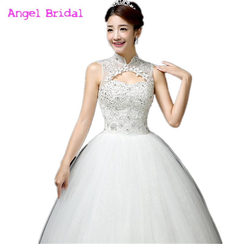 New style lace wedding dress korean style simple chinese for Wedding dress pick up style