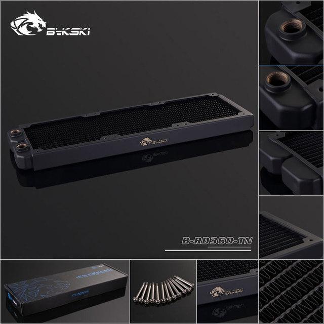 Bykski B-RD360-TN, 360mm Single Row Radiators, 28mm Thickness, Standard Water Cooling Radiators , Suitable For 120*120mm Fans