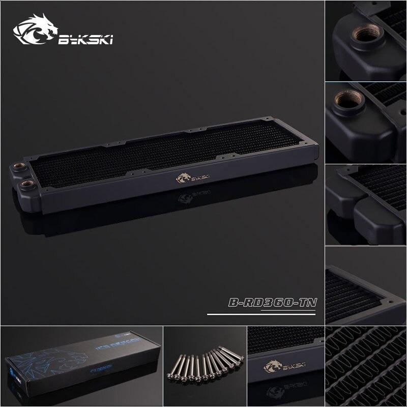 Bykski B-RD360-TN 360mm sola fila radiadores 28mm de espesor estándar de agua de refrigeración de radiadores adecuado para 120*120mm Fans