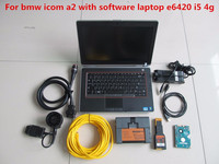 for bmw icom a2 b c with software expert mode 500gb hdd with laptop for dell e6420 ram 4g i5 cpu windows7 64bit full set