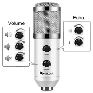 Plug & Play USB Condenser Microphone for PC / Computer Podcasting Self Study Recording