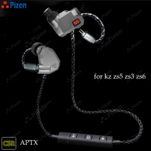 new PIZEN BT66 CSR8645 Support aptx for kz zs3 zs5 zs6  zst Bluetooth replace mmcx cable For shure SE535 for QKZ cable headset