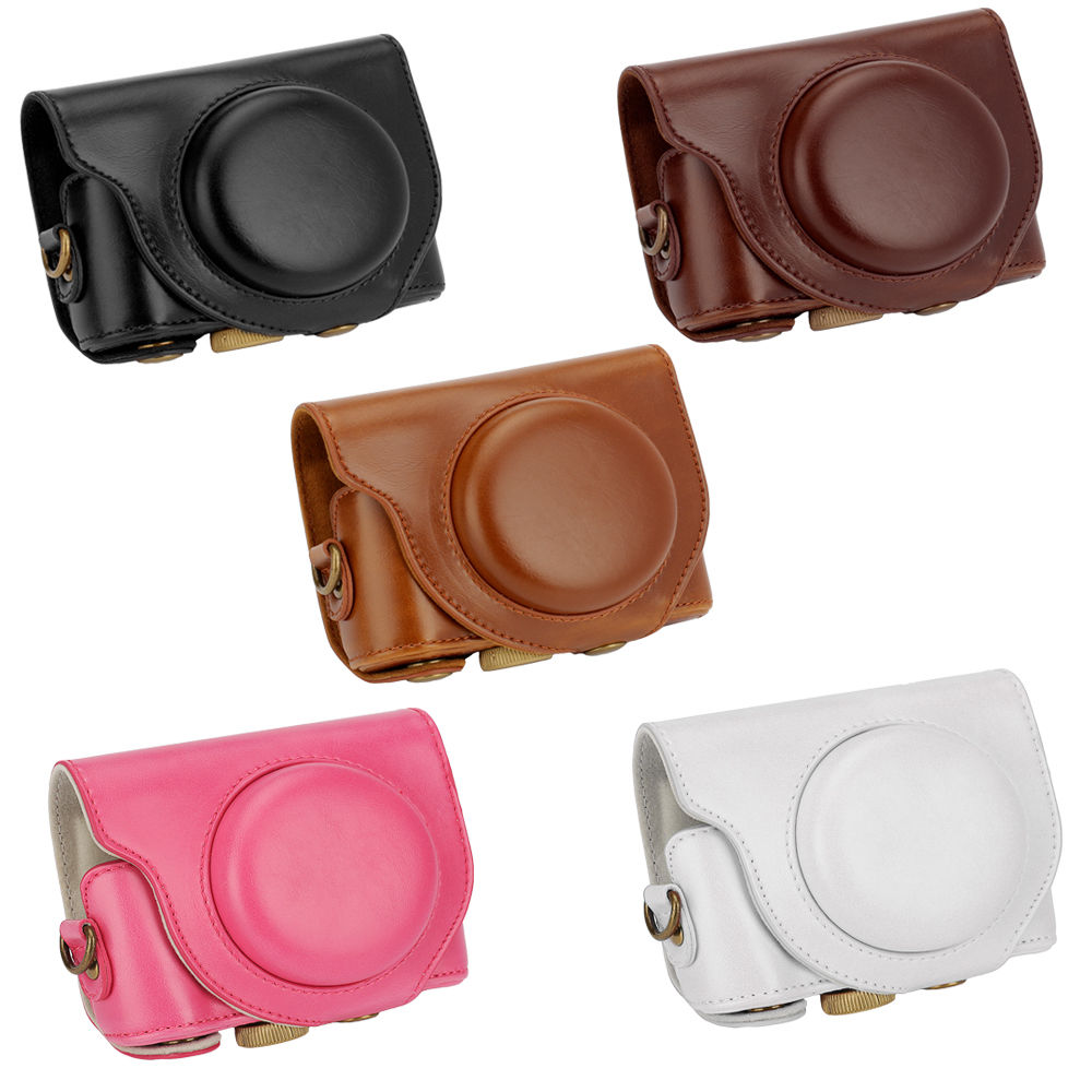 High quality Digital Camera Leather case cover for SONY Cyber-shot DSC-HX90V HX90 WX500 Camera Bag Pouch image