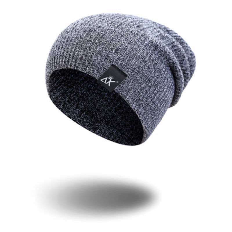 NEW Men Women Fashion Cotton Knit Baggy Beanie Oversize Winter Hat Ski Slouchy Chic Cap Brown Gray