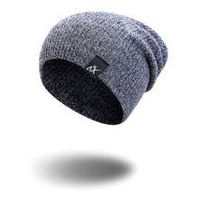 935fbf8e990 hirigin Men Women Cotton Knit Baggy Beanie Oversize Winter Hat Ski Slouchy  Chic Cap