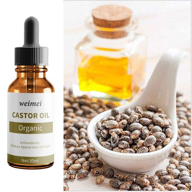 ebd4c9db3d7 Castor Oil Pure Organic Castor Oil For Eyelashes Stimulate cold extraction Moisturizing  nutrition Eyelashes Eyebrows Hair Growth