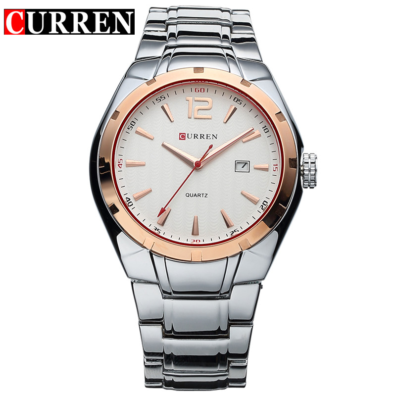 Curren Men's Sports Quartz Watches Stainless Steel Waterproof Male Clock Fashion Casual Watch Men Wristwatches relogio masculino