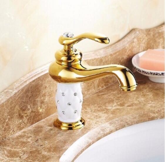Free Shipping gold bathroom basin faucet ,Brass with Diamond/crystal body tap New Luxury Sink Faucet hot and cold  water tap pastoralism and agriculture pennar basin india