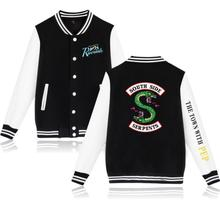 цена на Riverdale Hoodie SouthSide Baseball Jacket Men Women Men's Hip Hop Snake South Side SERPENTS Hoodies Sweatshirt Coat Hoodies