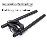 2018 NEW Mountain bike folding handlebar folding bike crossbar rest handlebar 25.4/31.8mm innovative technology handlebar Cheap