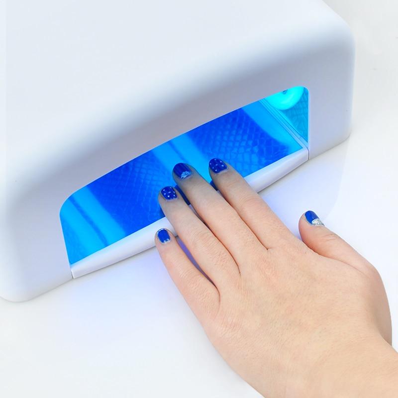 Professional 36W Nail Art UV Lamp Light Dryer 4 * 9W Salon Gel Curing Tube EU Plug 220V kangtuo kt 906 9w nail art gel curing uv lamp white 2 round pin plug 120cm cable