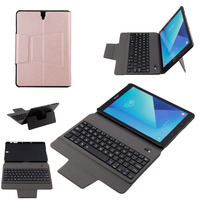 מקרה מקלדת Slim Bluetooth האלחוטית אולטרה קיפול סטנד עור PU כיסוי חכם עבור Samsung Galaxy Tab S3 9.7 T820 T825 Tablet