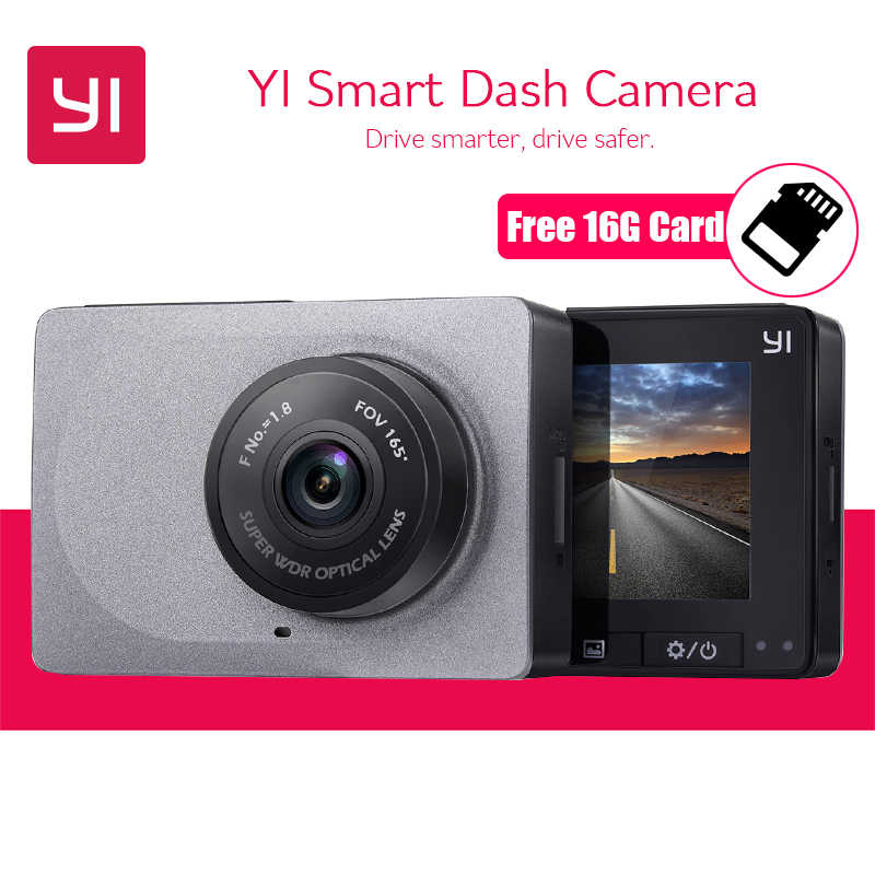 [International Edition] YI Smart Dash Camera Full HD 1080P 60fps Car DVR Dash Cam with G-Sensor Night Vision ADAS Registrator
