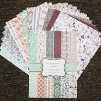 DIY Photo Album Flower Decorative Scrapbooking Papers Crafts Art Card A4 Single Side Printed 24