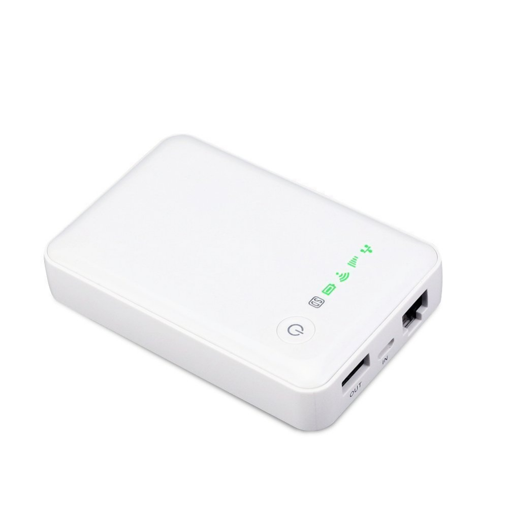 Multifunctional Mini WCDMA 3G Mobile SIM Card WiFi Hotspot Internet Network + Wireless Travel Router 5200mAh USB Port Power Bank ishare candy color 3g wireless router 5200mah mobile power bank storage
