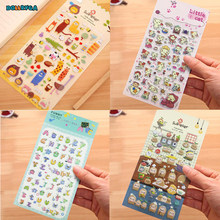 DIY Stickers Children Stickers Toys Cartoon Animal Pattern 3D Bubble Leather Diary Decoration Pasting Mobile Kindergarten Toys(China)