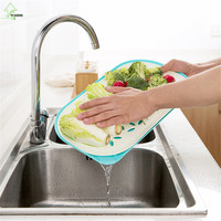 YI HONG Double Layer Drain Tray Living Room Fruit Plate Creative Home Coffee Cup Tray Vegetable