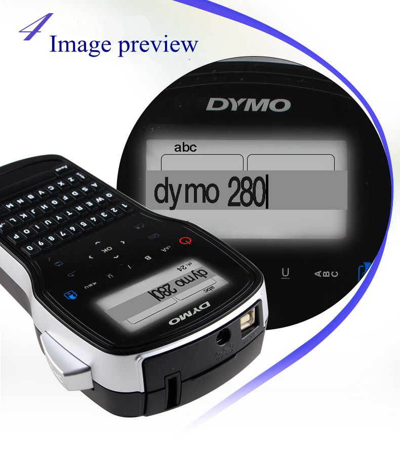 Label Printer Computer LM280 Handheld Portable The To English Best-Lm-280 Can-Be-Connected
