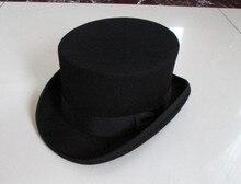 Casquette magique en laine Fedora, chapeau haut de forme cylindres, pour hommes et femmes, Style britannique, 12cm de haut, B 8114 cylindres