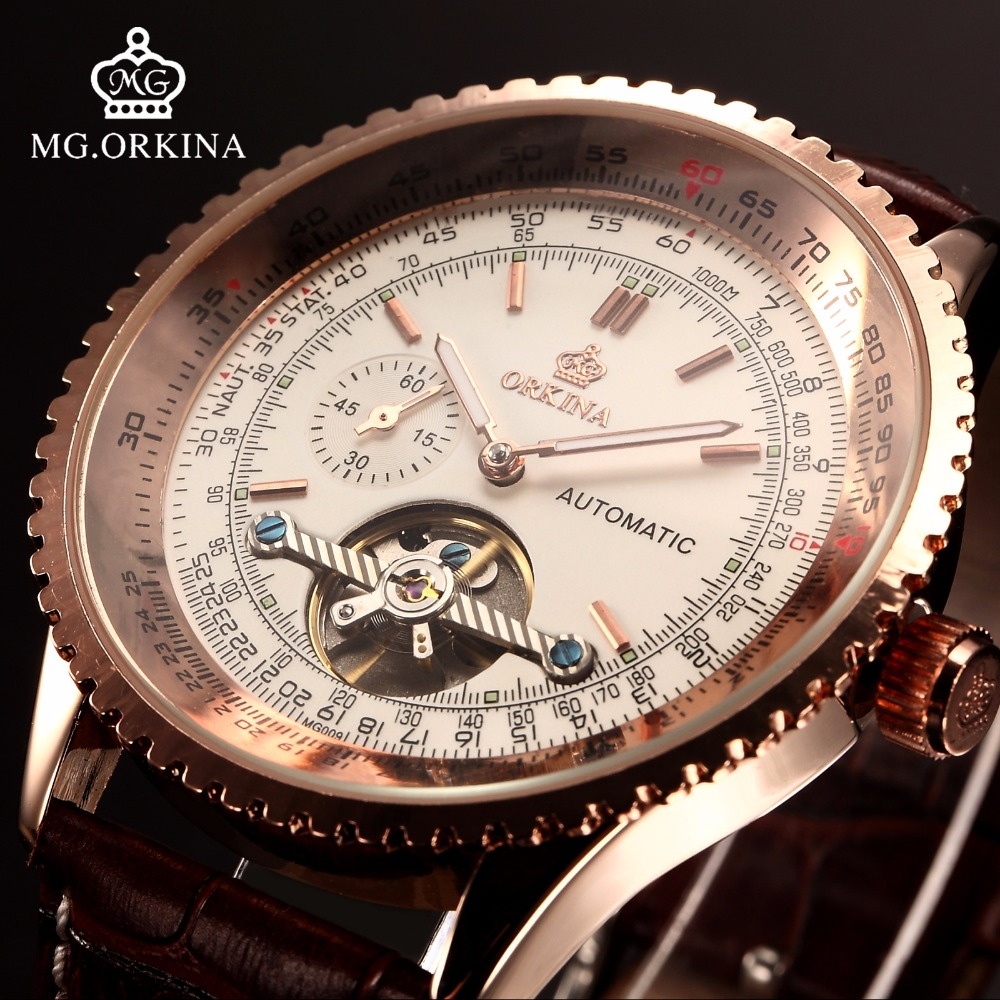 Horloges Mannen 2016 New Clock Men Cool Steampunk Tourbillon Automatic Wirst Watch Festina Relojes