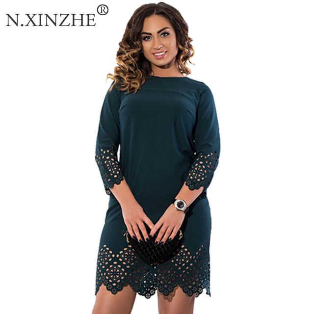 3a35206d243a4f8 Модные осенние женские платья в полоску больших размеров, женская одежда по  колено, Повседневное платье