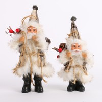 Santa Claus Doll Toy Christmas Tree Ornaments Decoration Exquisite For Home Xmas Happy New Year Gift happy Home Christmas