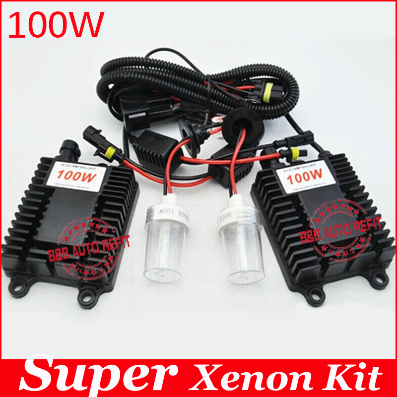 Guarantee 2 year,100W hid xenon kit H1 H3 H7 H8 H11 9005 9006 hb3 bh4 4300k 6000k 8000k for car headlight two AC ballast