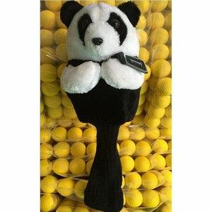 Image 3 - ゴルフアイアンパター保護ヘッドカバーかわいい斑点パンダゴルフクラブヘッドカバーセット