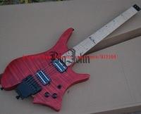 new headless electric guitar maple fingerboard matt red mahogany body korea pickup BJ 86