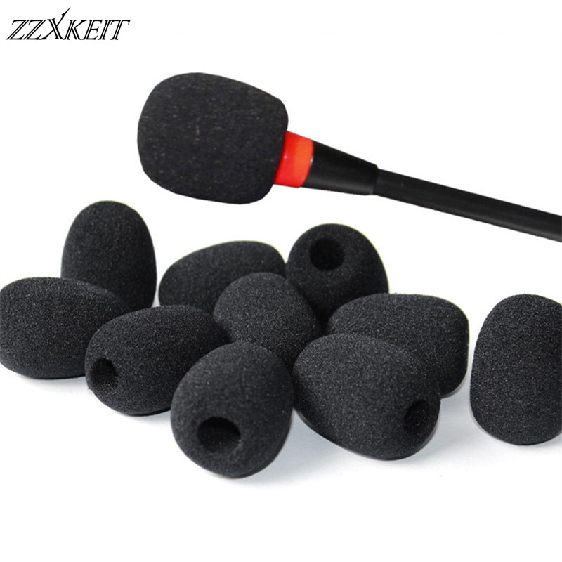 30*22*8mm Foam Headset Replacement Microphone Sponge Covers Telephone Headset Mic Microphone Windshield Microphone Accessories