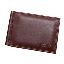 Mini Wallet Cow Leather Men Wallets Holder Small Purse Money