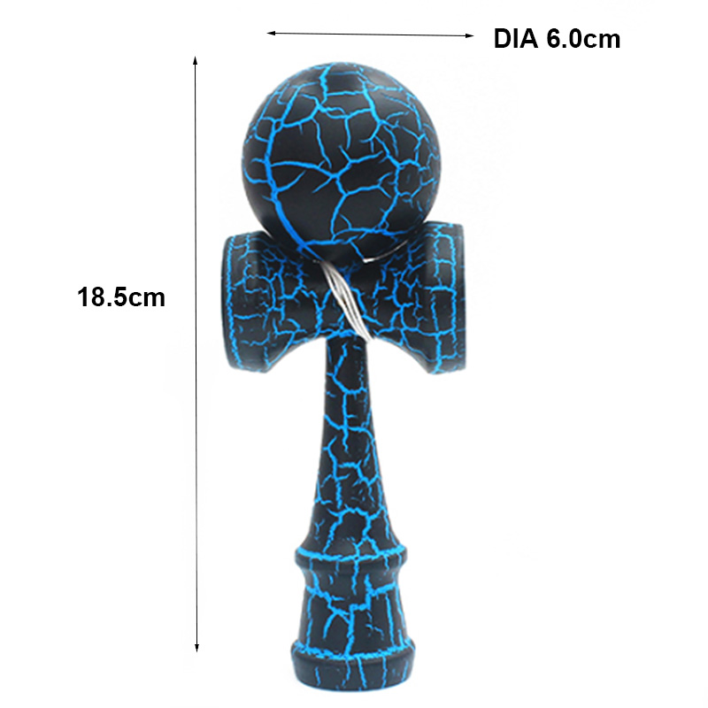 Image 2 - Wooden Toy Outdoor Sports Kendama Toy Ball Children and Adults Outdoor Ball Sports Crack Beech Wood Colorful Design-in Toy Balls from Toys & Hobbies