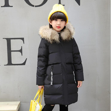 Baby Girls Down Jacket made of Goose Feather Children Winter Overalls Girls Gown Jacket Coat Baby meisjes Snowsuit hooded Coat