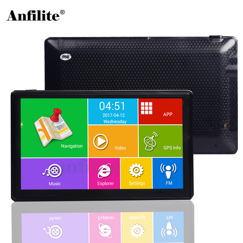 Anfilite 7 inch Capacitive screen DDR 512M ROM 16GB car GPS Navigation Android 4 4 2