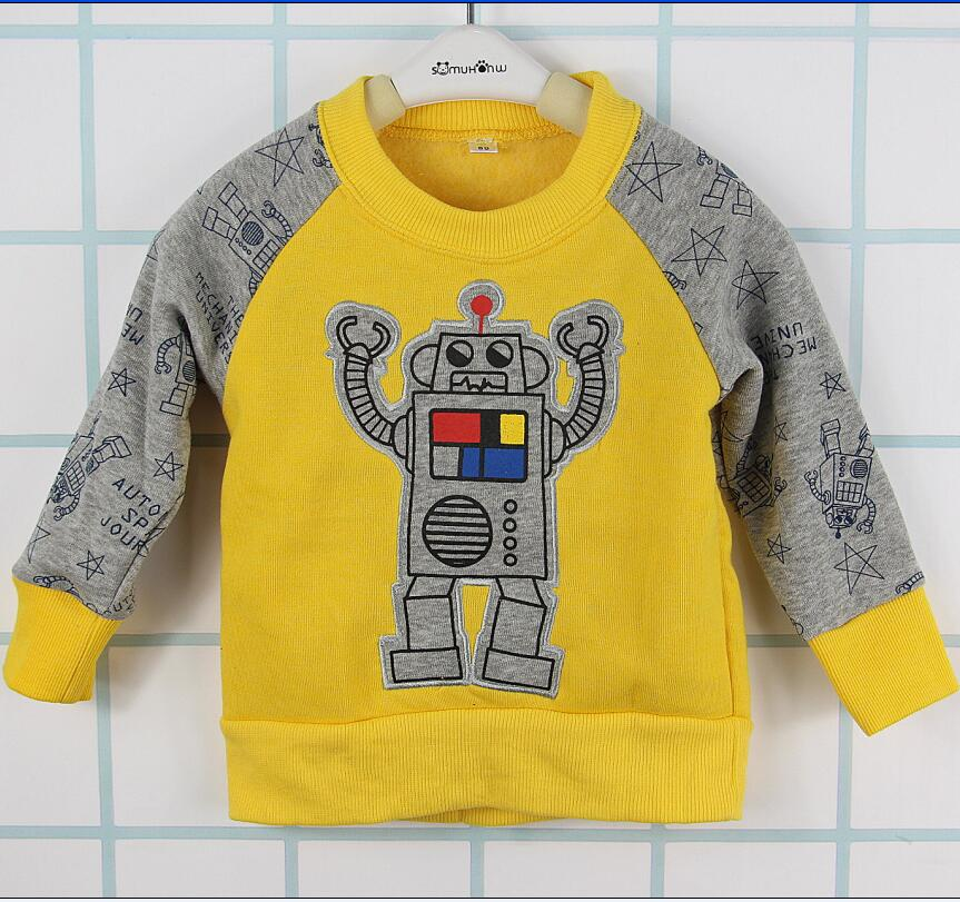 New 2017 baby boys nova kids cotton long sleeve children robot modeling cartoon 0-2 years newborn baby clothing